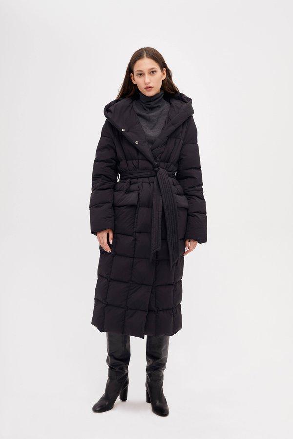 Удлиненная куртка цвет: черный