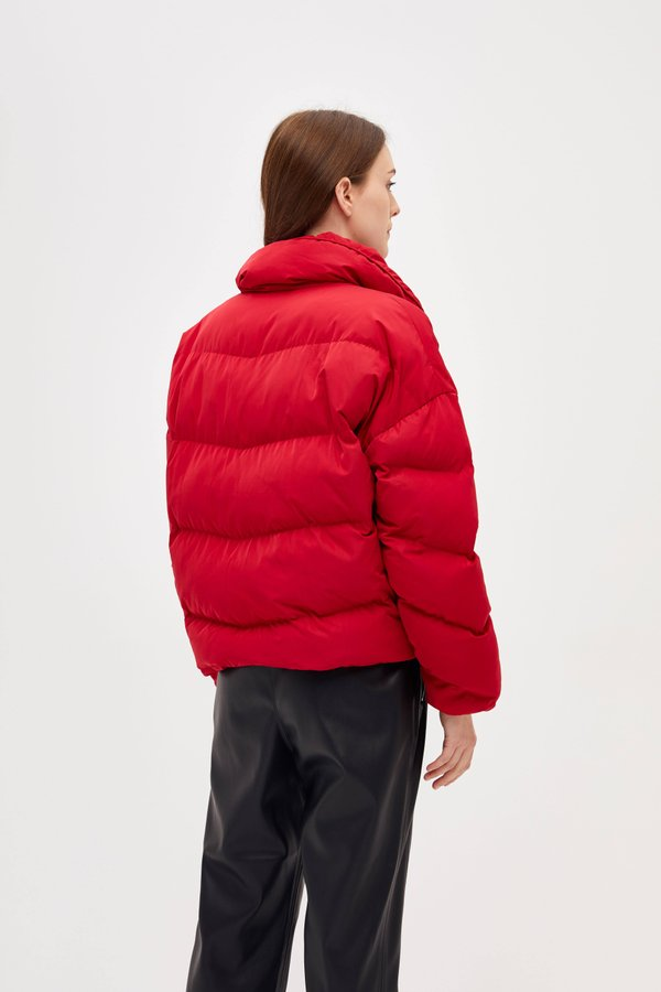 Куртка с контрастной молнией вид сзади