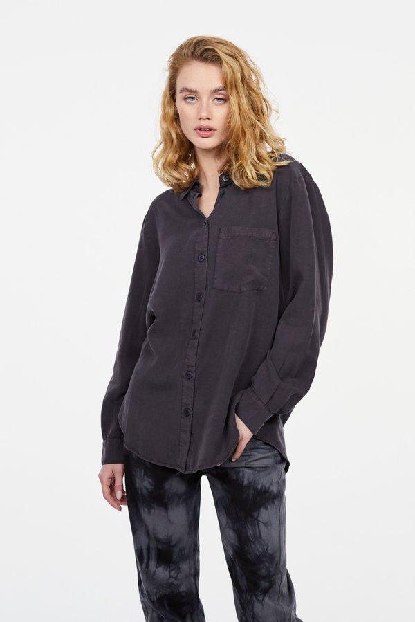 Рубашка с накладным карманом цвет: антрацит