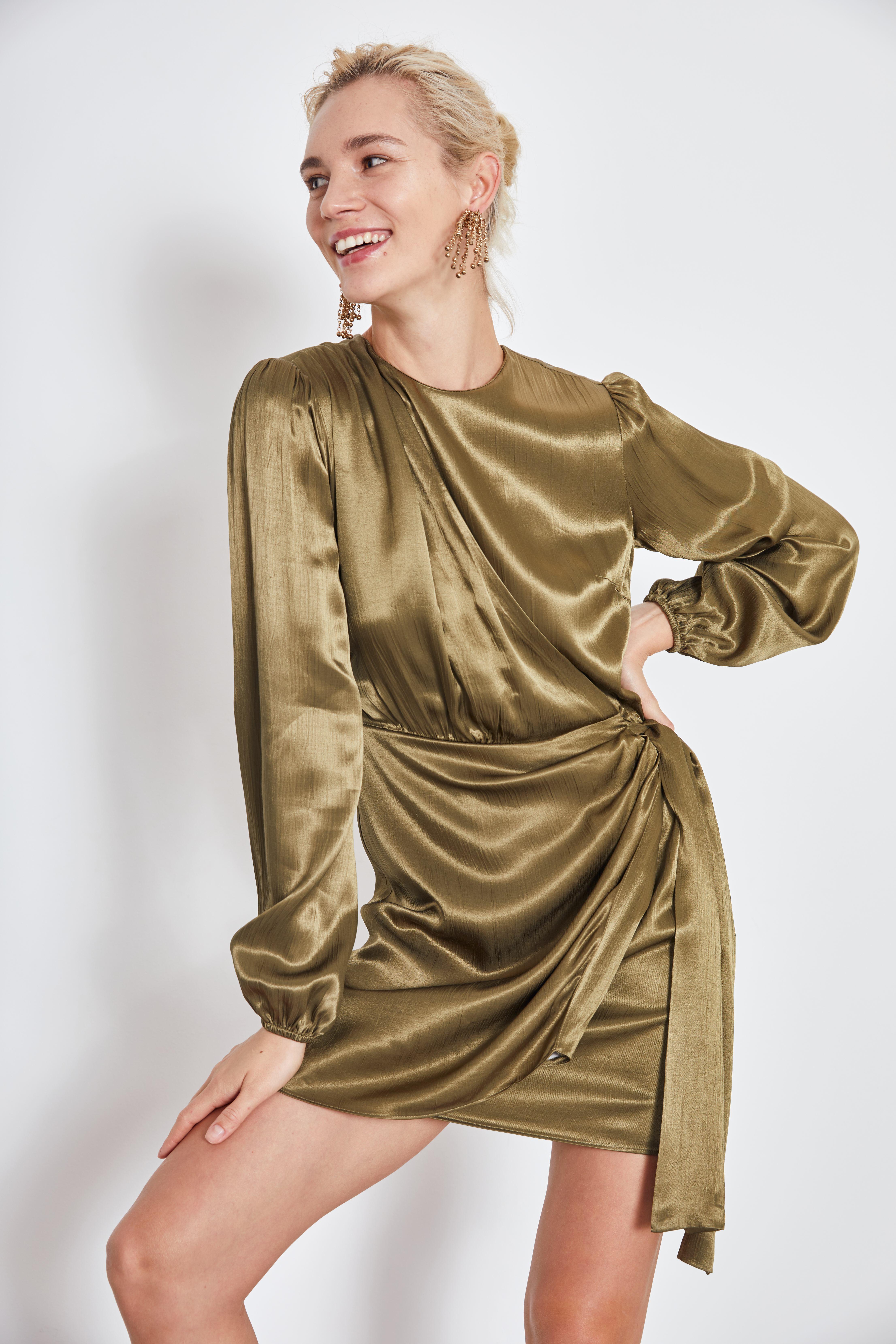 Платье LIME Платье с драпировкой