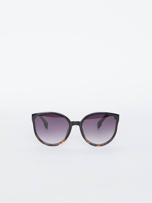 Солнцезащитные очки с градиентом на линзах цвет: черный