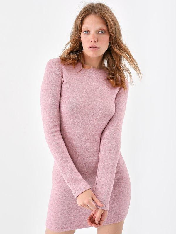 Трикотажное платье цвет: розовато-лиловый