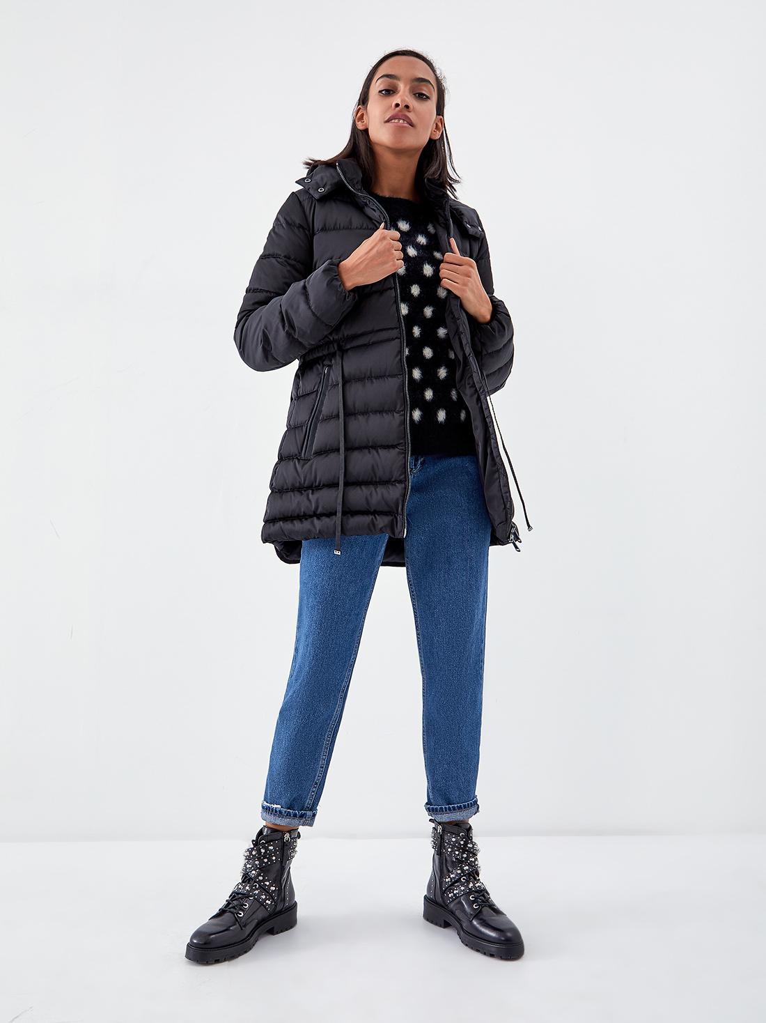 Удлиненная куртка с кулиской на поясе