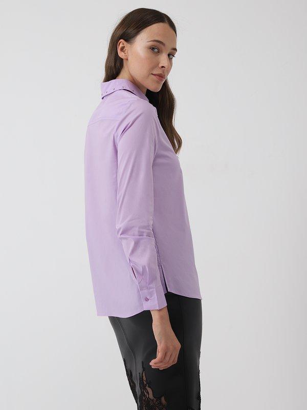 Классческая рубашка со стразами вид сзади