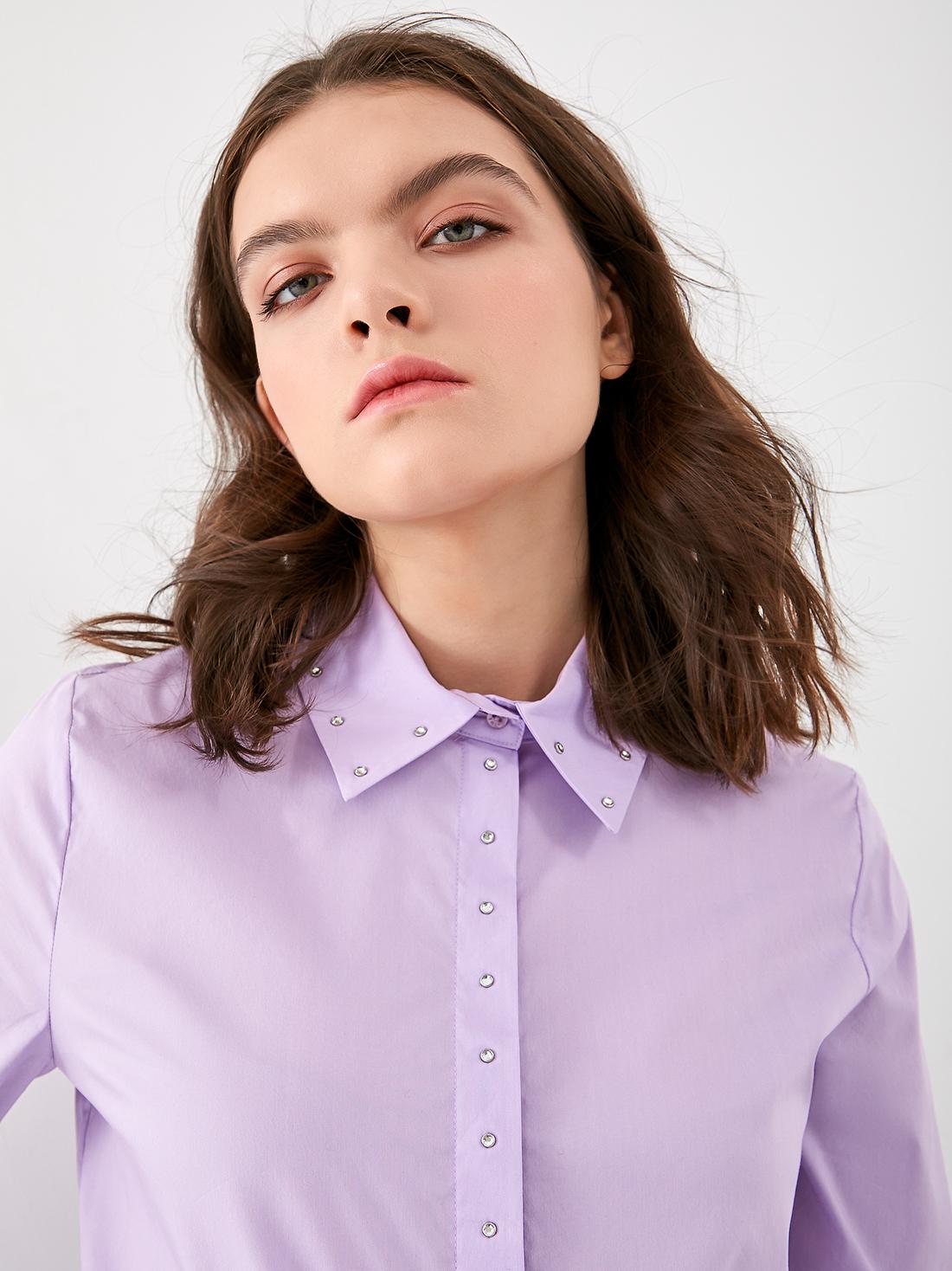 Классческая рубашка со стразами