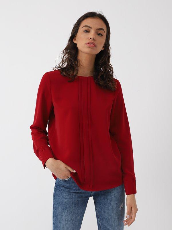 блузка цвет: вишневый