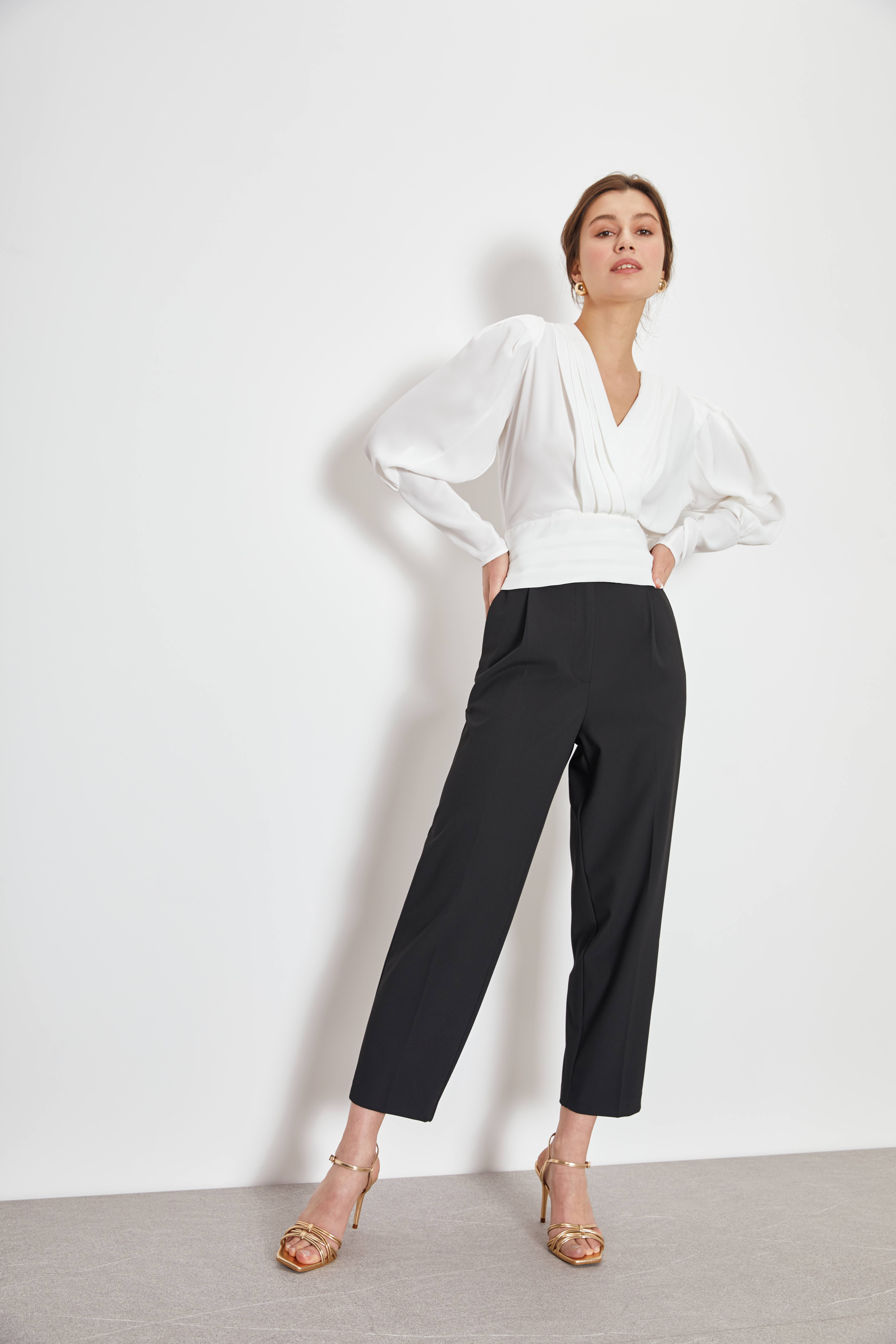 Блузка LIME Блузка с объемными рукавами блузка lime блузка с эластичной талией