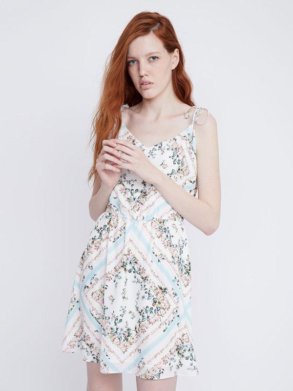 Платье Х-силуэта цвет: минт