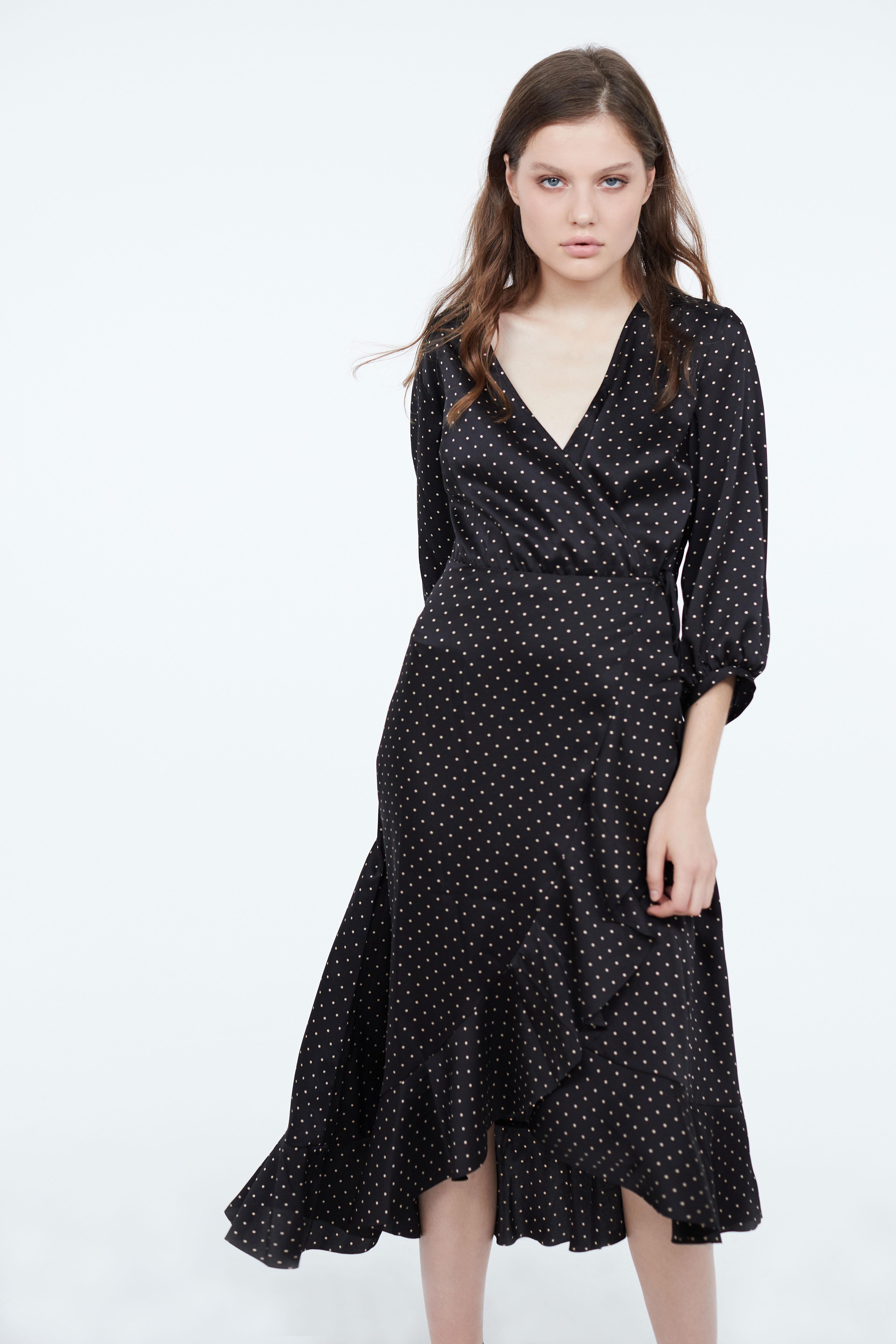 Платье с асимметричным низом и воланами LIME
