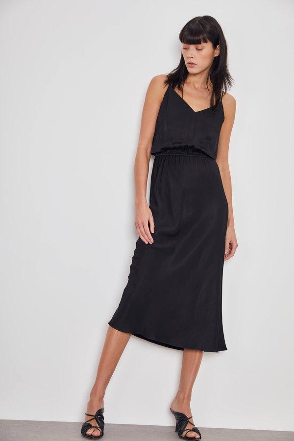 Платье с эластичной талией цвет: черный