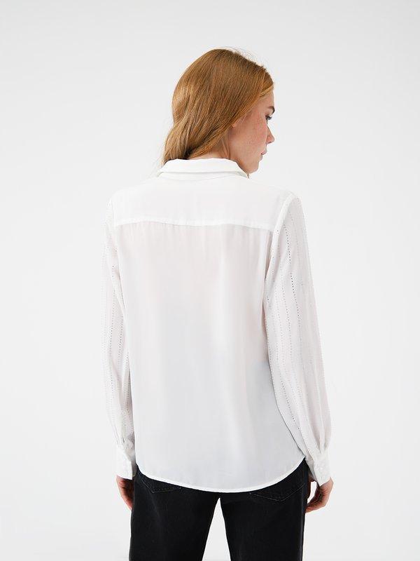 Рубашка со стразами вид сзади