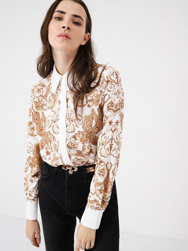"""Рубашка с принтом в стиле """"барокко"""""""