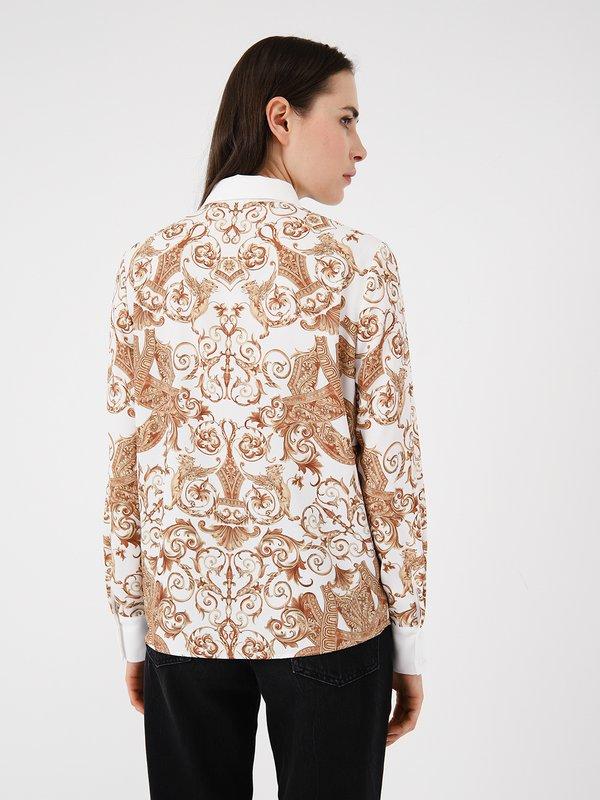 """Рубашка с принтом в стиле """"барокко"""" вид сзади"""