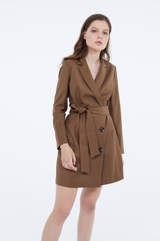 Платье LIME Платье с отложным воротником пиджак с отложным воротником b young