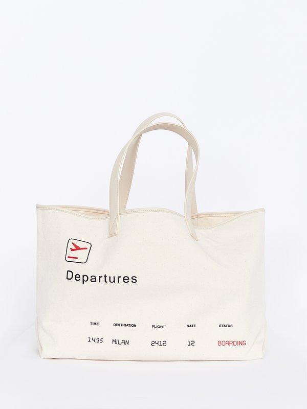 Сумка-шоппер со съемной внутренней сумкой вид сзади