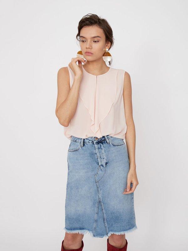 Блузка с воланами цвет: персиковый