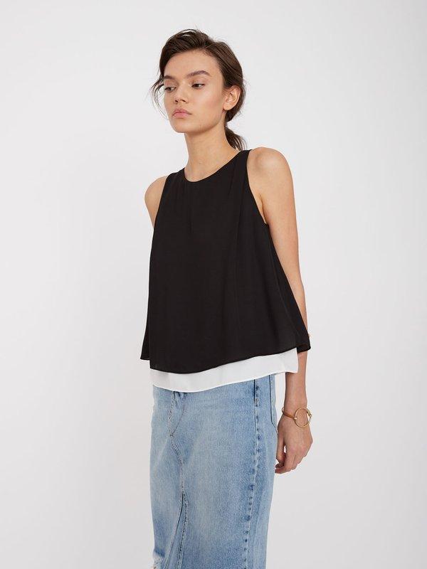 Двуслойная блузка цвет: черный