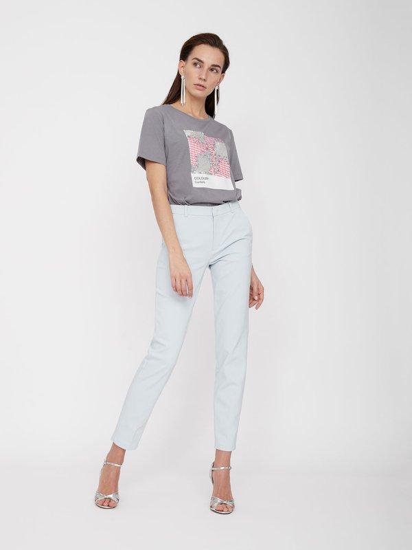 Классические брюки со стрелками цвет: голубой