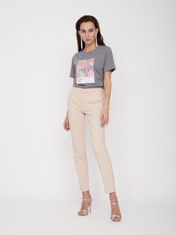 Классические брюки со стрелками цвет: светло-пудровый