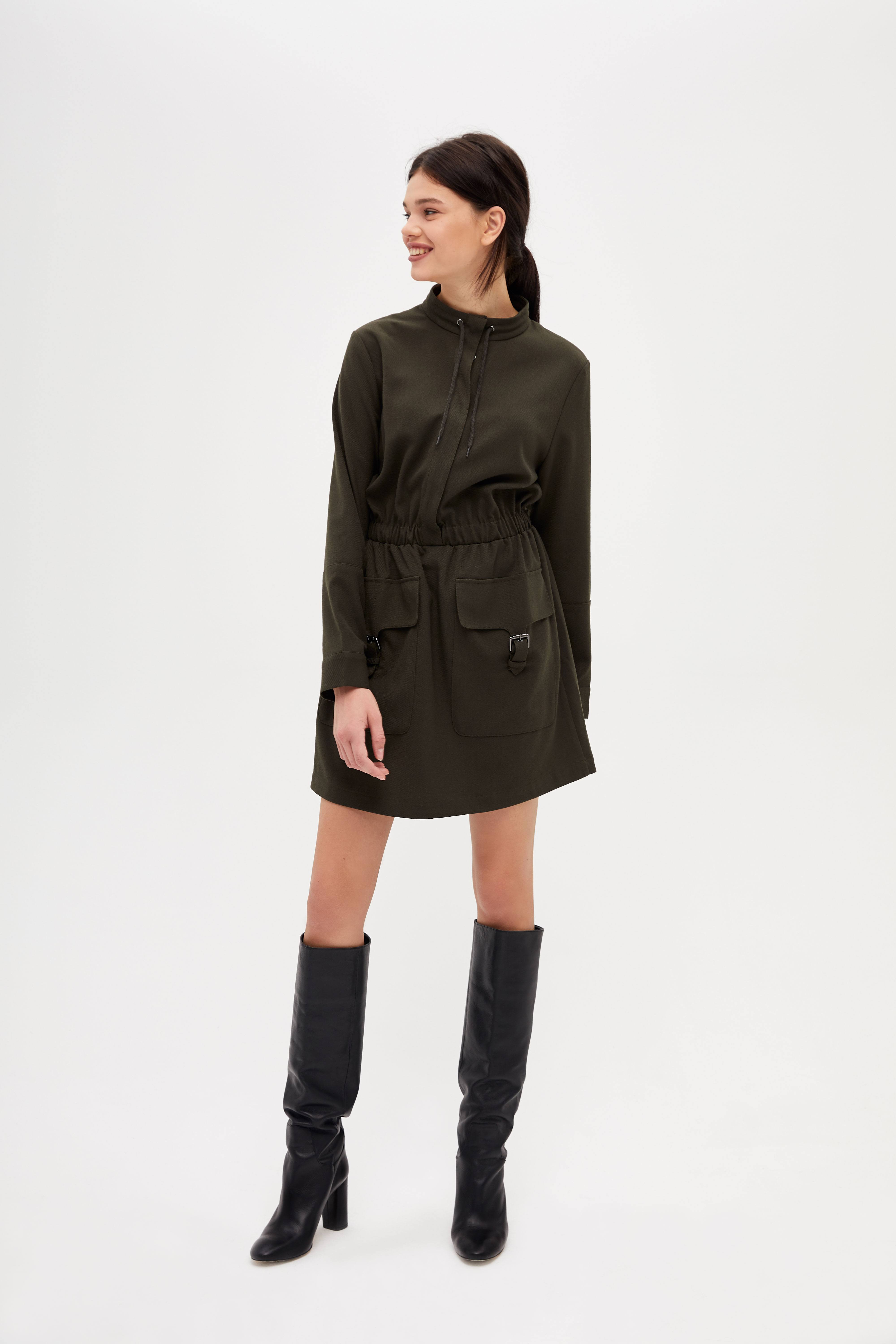 Платье LIME Платье с эластичной талией блузка lime блузка с эластичной талией