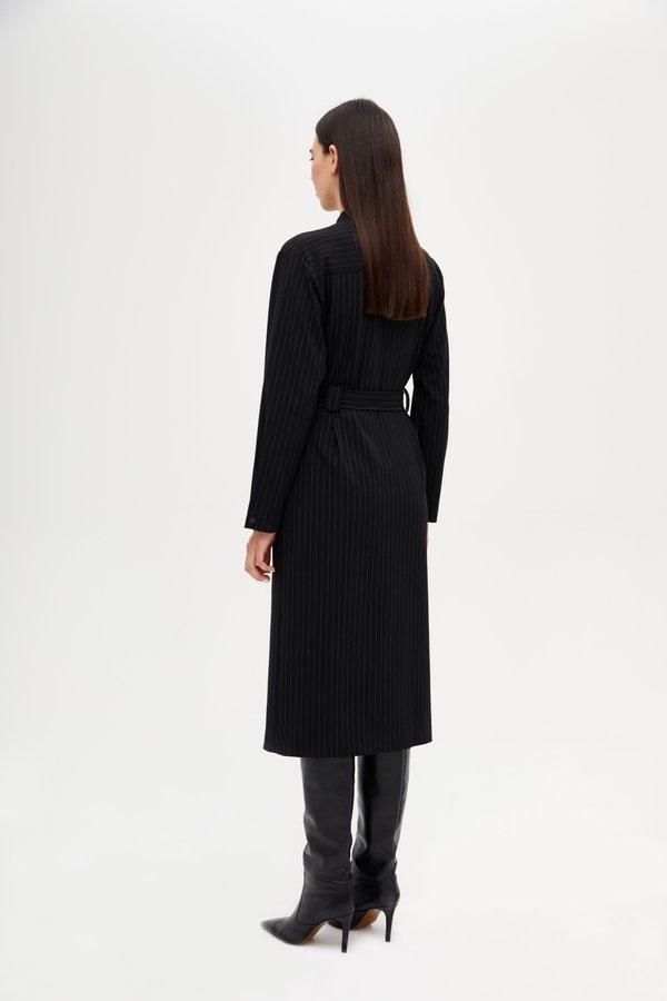 Платье с кнопками вид сзади