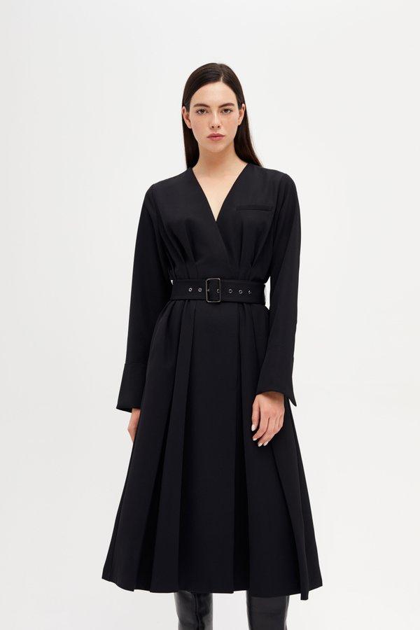 Платье со складками по линии талии