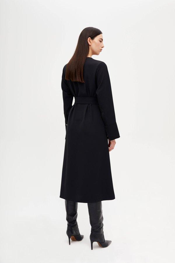 Платье со складками по линии талии вид сзади