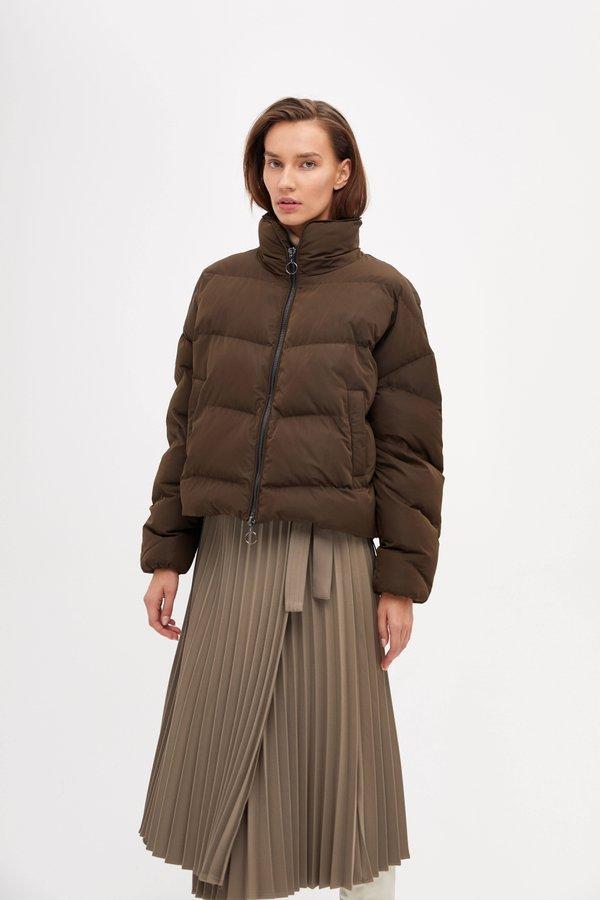 Куртка с контрастной молнией цвет: хаки