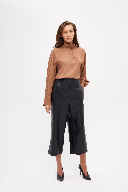 Блузка LIME Блузка с воротником-стойка блузка lime блузка с эластичной талией