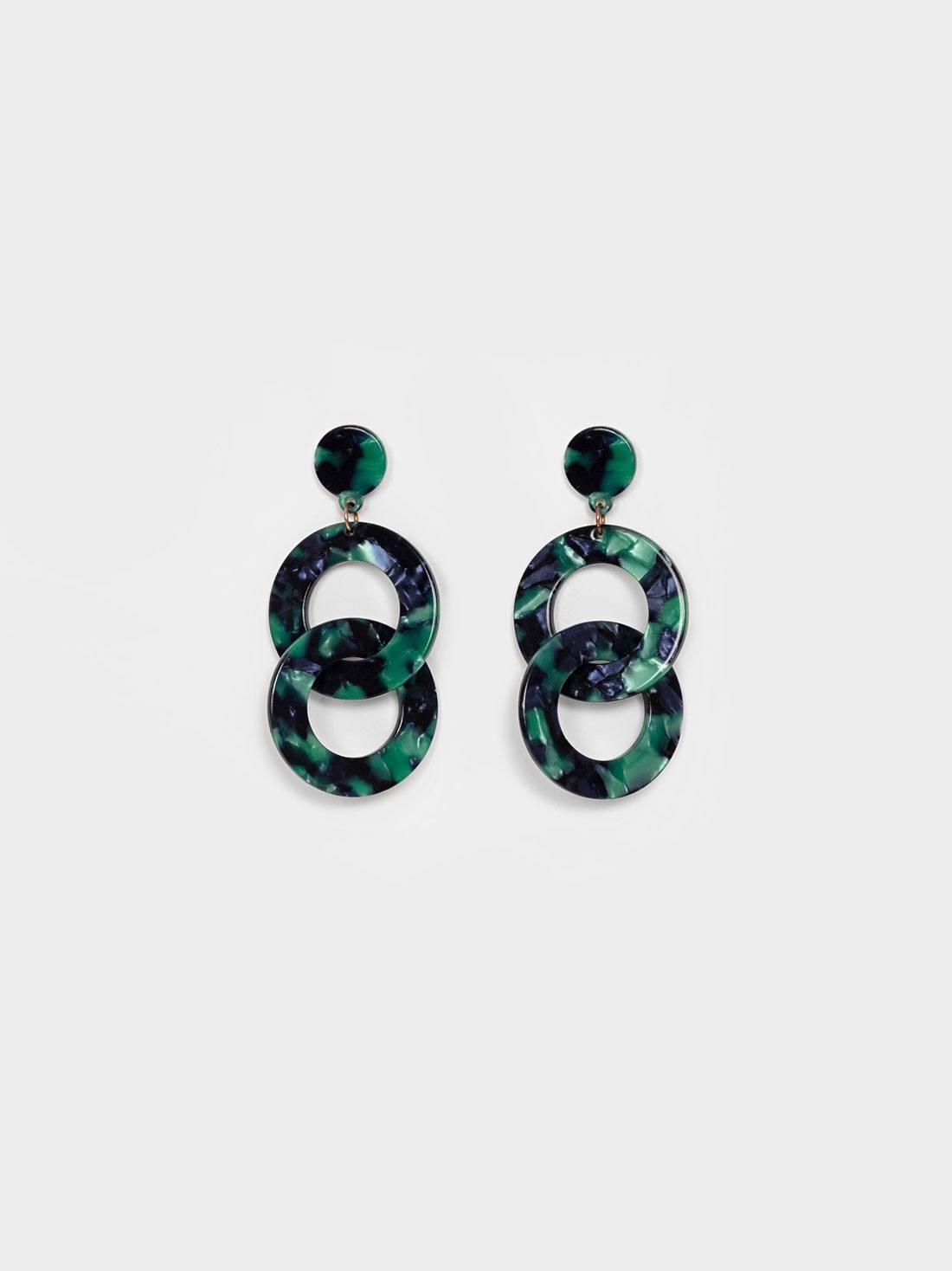 Серьги двойные кольца