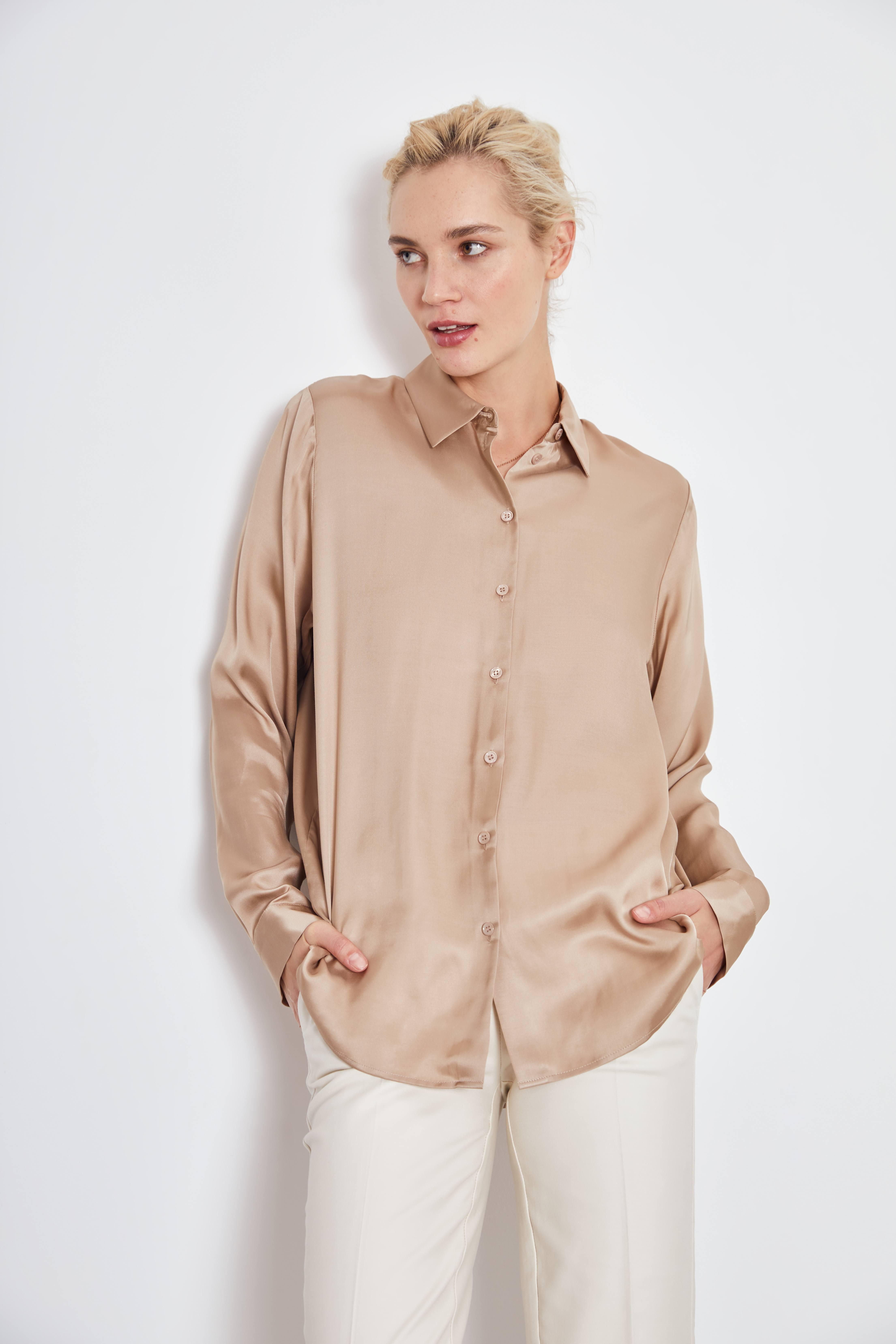Рубашка LIME Рубашка из вискозы рубашка mezaguz mezaguz me004emargc8