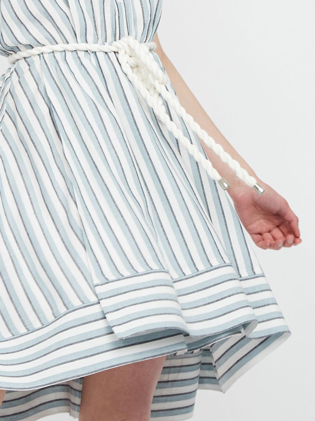 Платье из вискозы с поясом