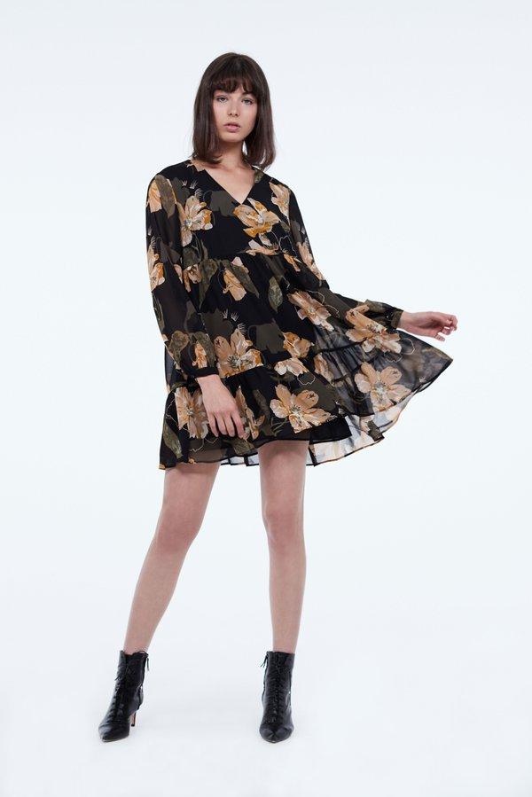 Платье А-силуэта цвет: черный