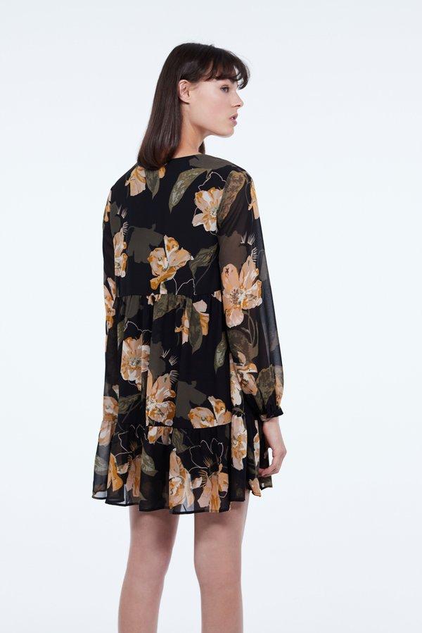 Платье А-силуэта вид сзади