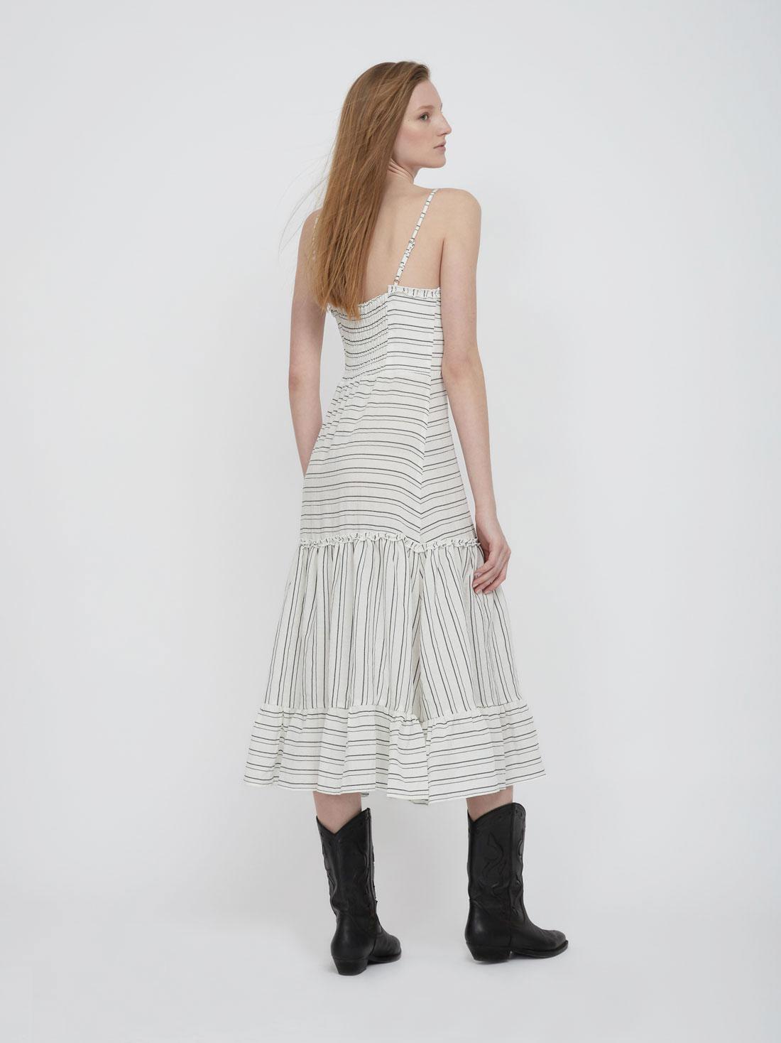 Платье из вискозы с воланами