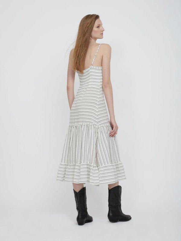 Платье из вискозы с воланами вид сзади
