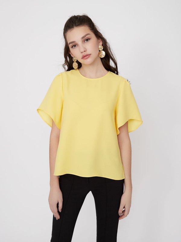 Блузка с воланами цвет: желтый