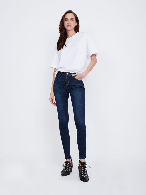 da685c59663 Зауженные джинсы Зауженные джинсы цвет  темно-синий