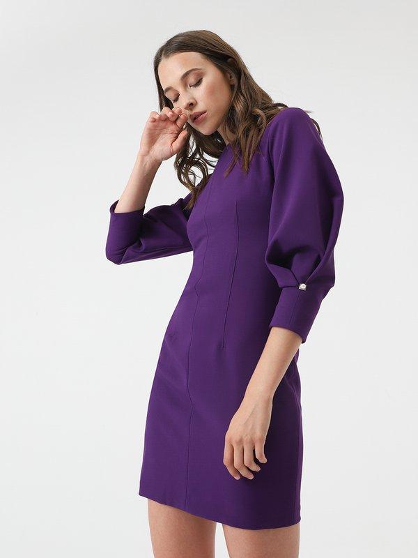 Платье с декоративным элементом  цвет: фиолетовый