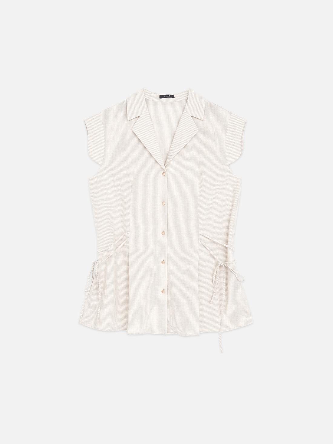 Удлиненная рубашка из льна и хлопка