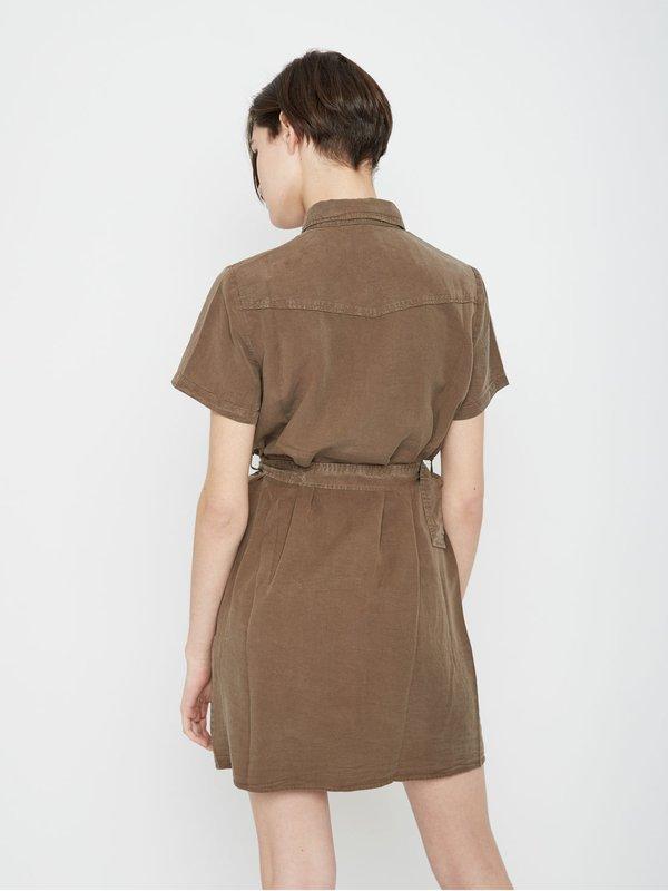 Платье на пуговицах вид сзади