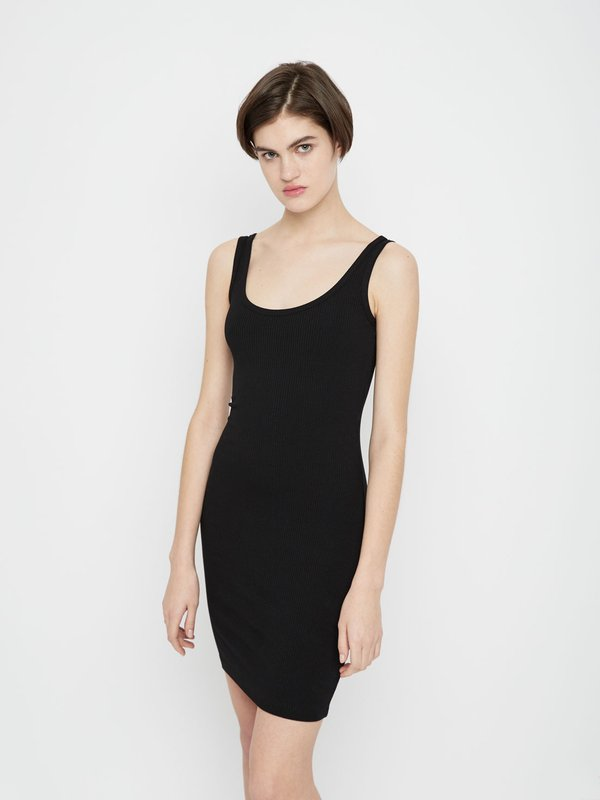 Облегающее платье на тонких бретелях цвет: черный
