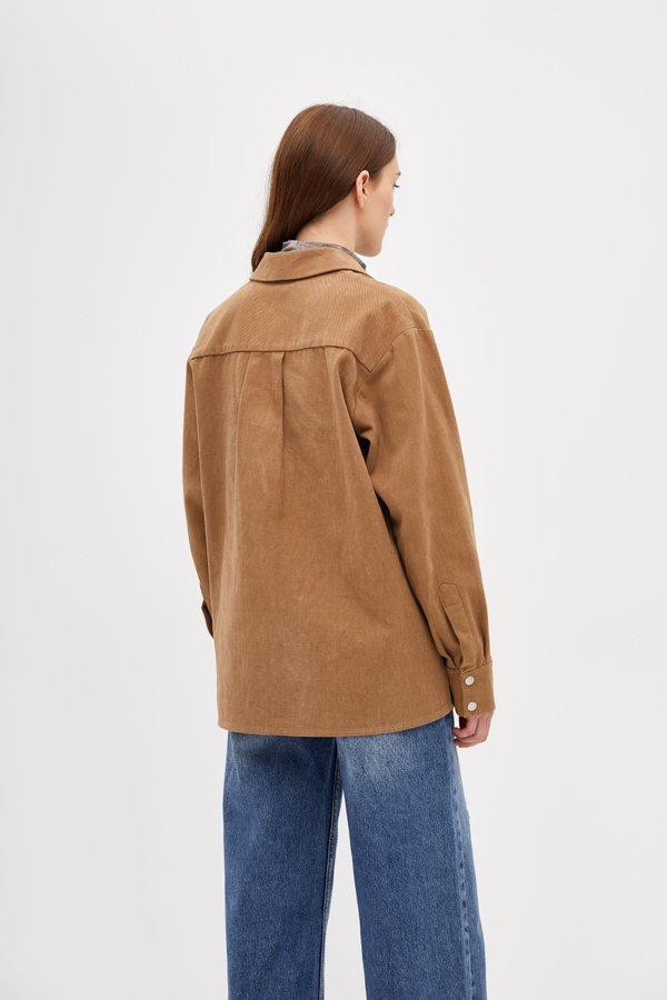 Рубашка с кнопками вид сзади