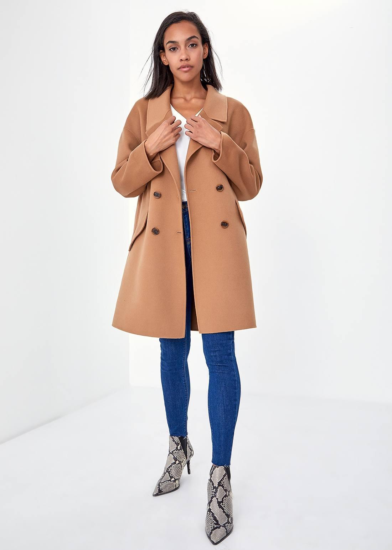 Классическое пальто с лацканами