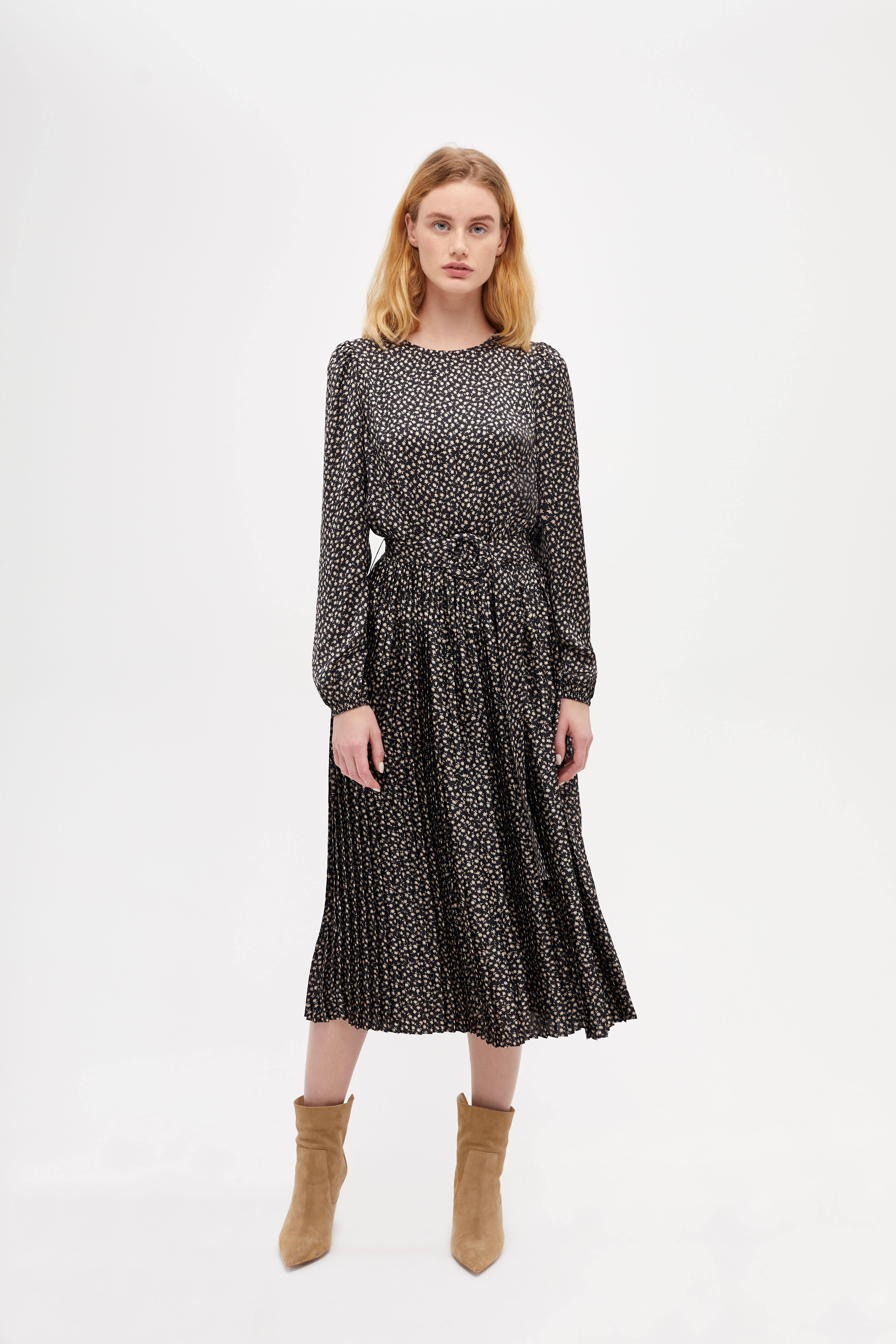 Платье LIME Платье с плиссированной юбкой короткое платье с длинной юбкой