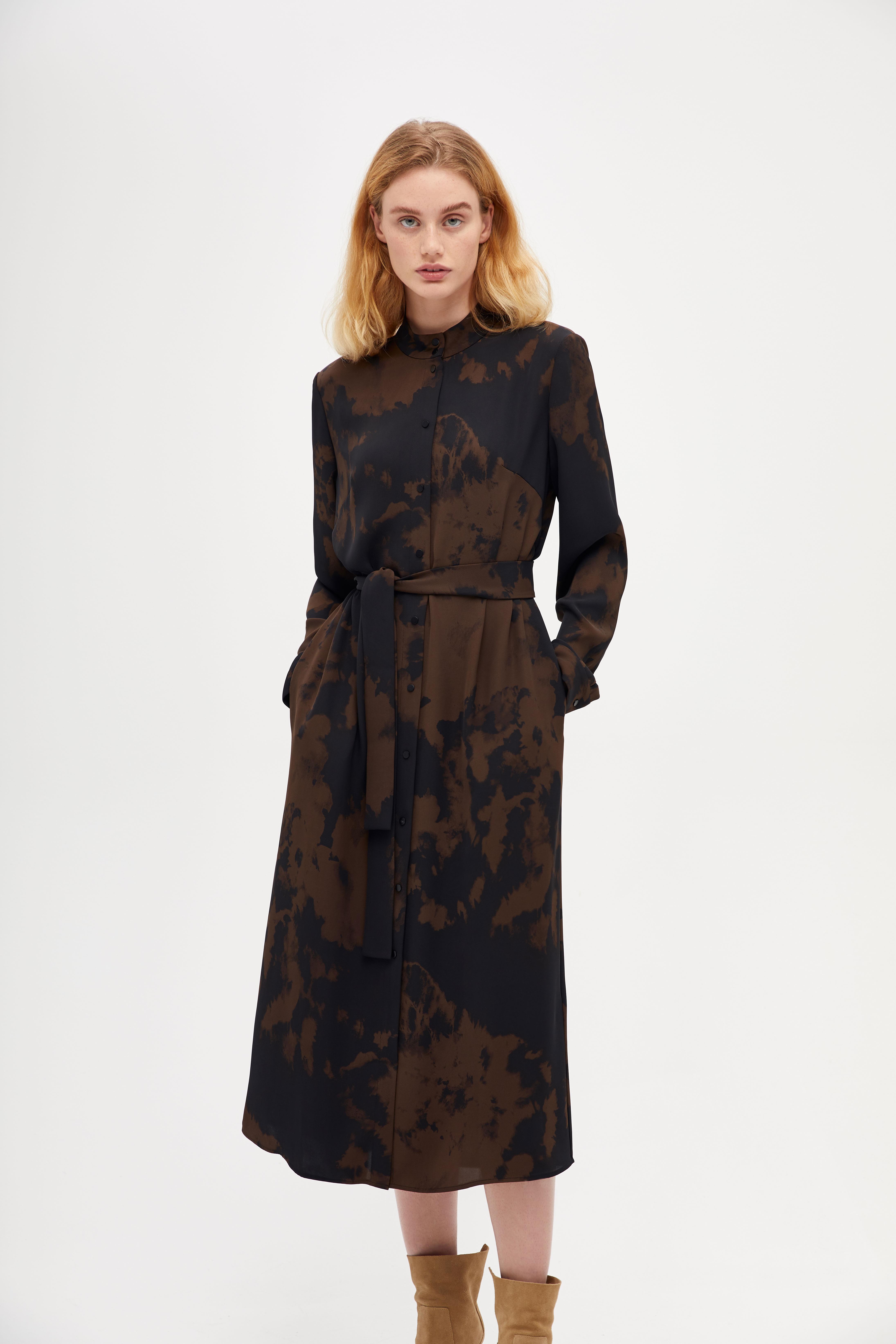 Платье LIME Платье с принтом тай-дай цена 2017