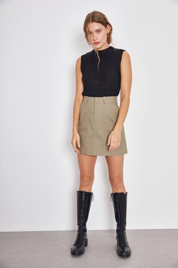 Мини-юбка с карманами цвет: хаки