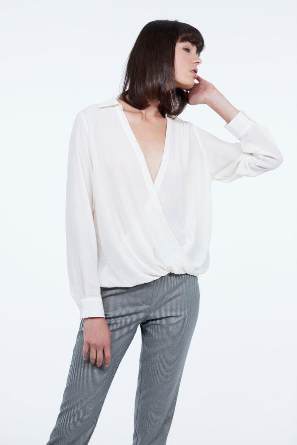 Блузка с запахом