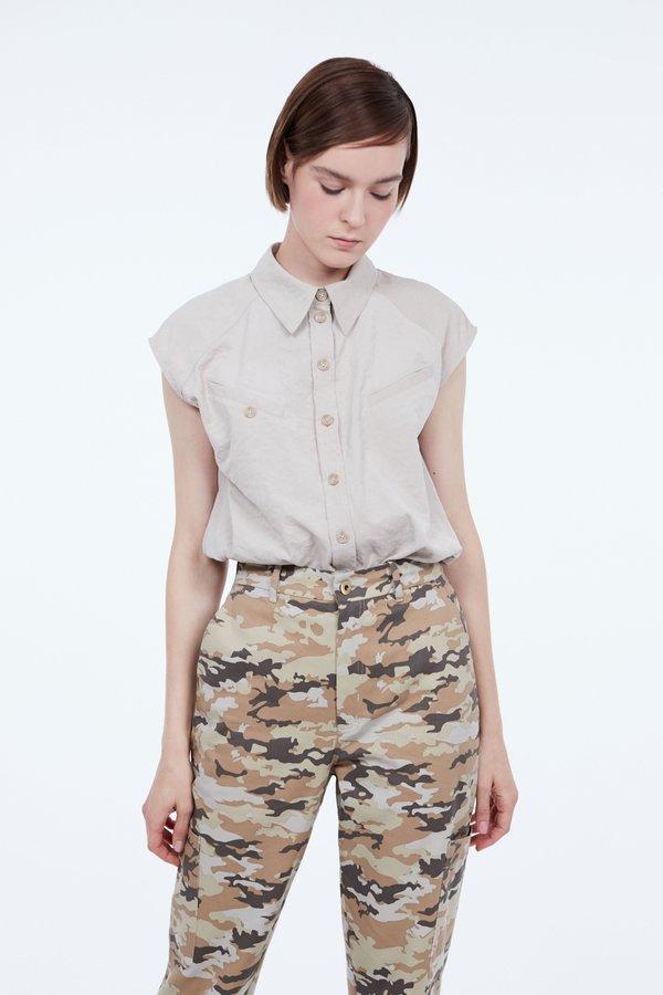 Рубашка с прорезными карманами