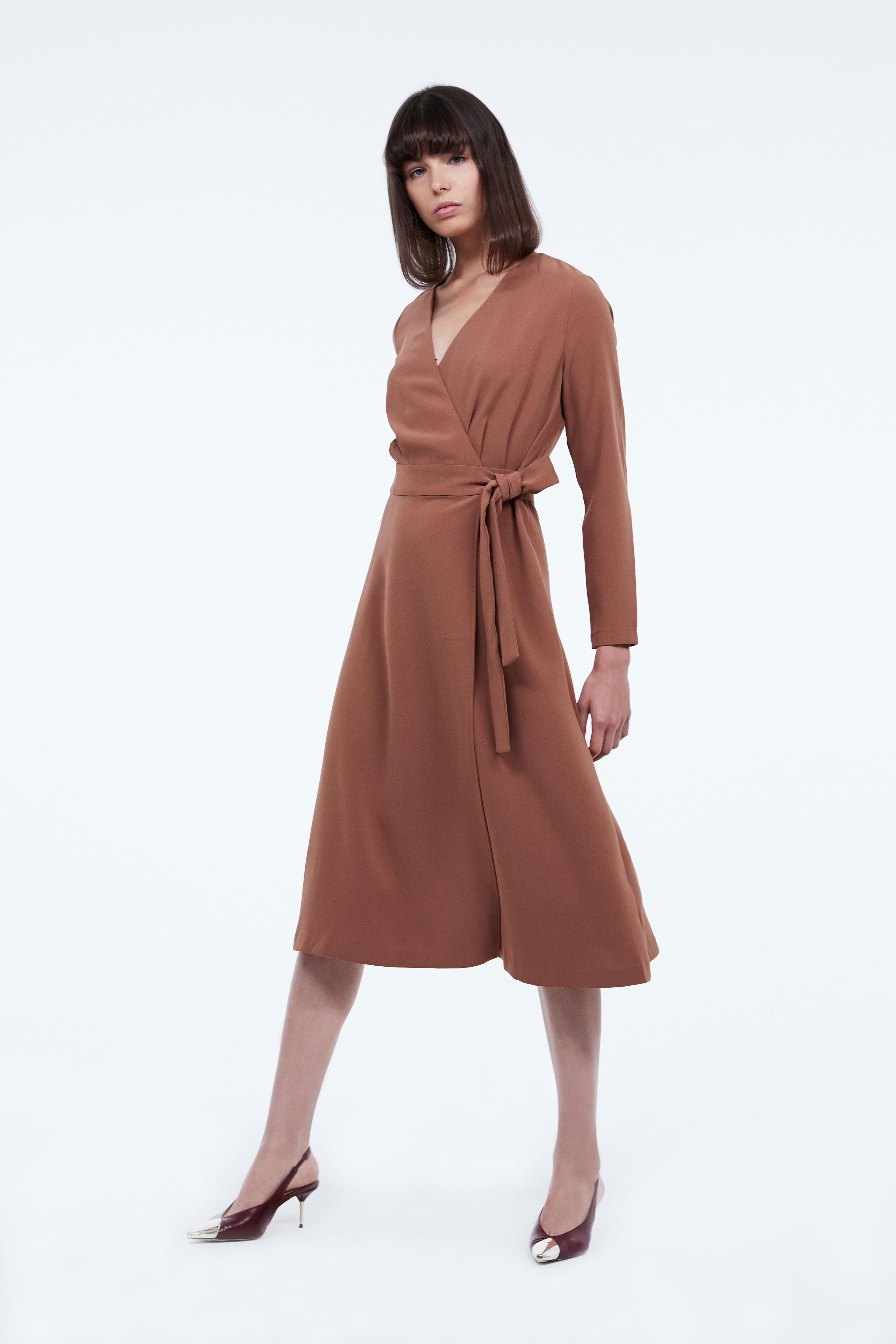 Платье LIME Платье с запахом платье длинное с запахом с рисунком coming